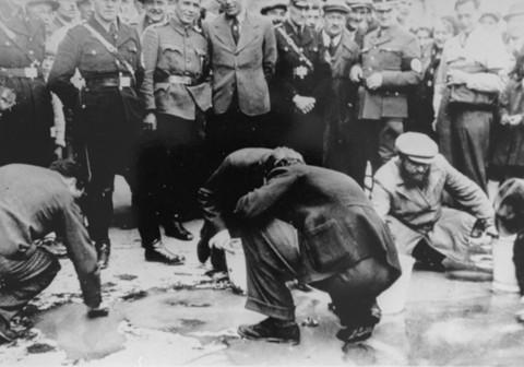 Jews in vienna forced to scrub streets